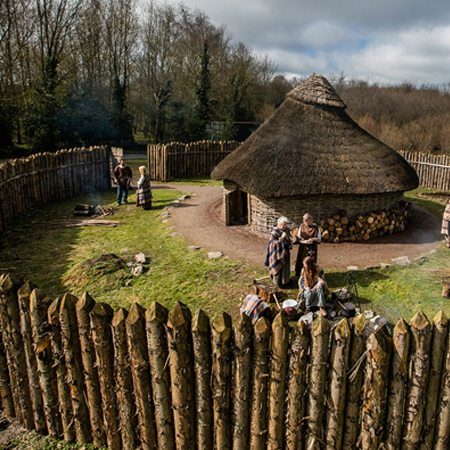 Special Opening Of Iron Age Dwelling