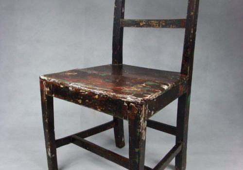 9 Painted carpenter's chair