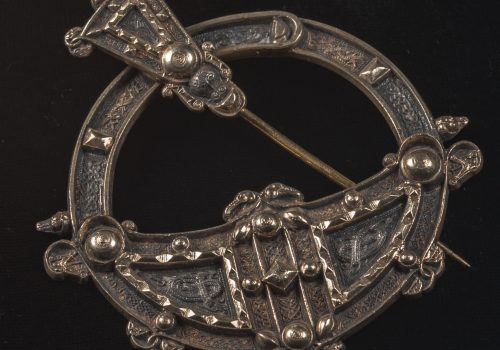 Brooch, brass, replica of the Tara Brooch ARMCM.50.1977