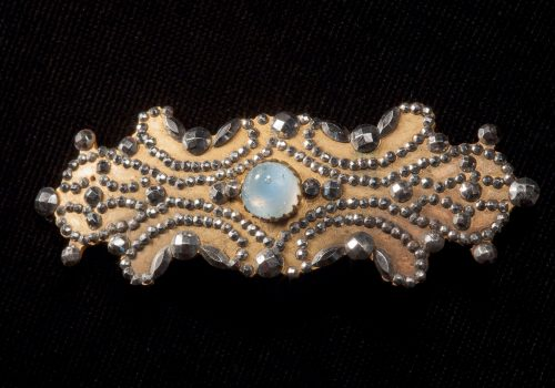 Brooch, gilt cut steel and paste with moonstone ARMCM.169.1975