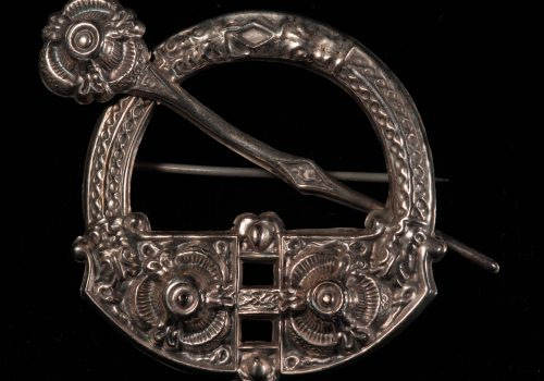 Brooch, silver, copy of Irish penannular design ARMCM.219.1975
