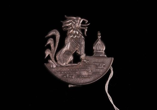 Brooch, silver, griffin and temple ARMCM.213.1975